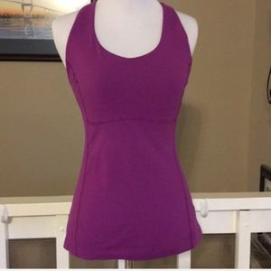 3/$10 Lucy Purple Athletic Top Size Small